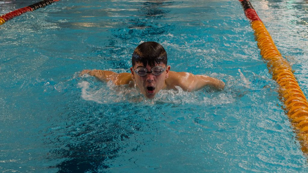 Josh swimming with the Cardinia Piranhas