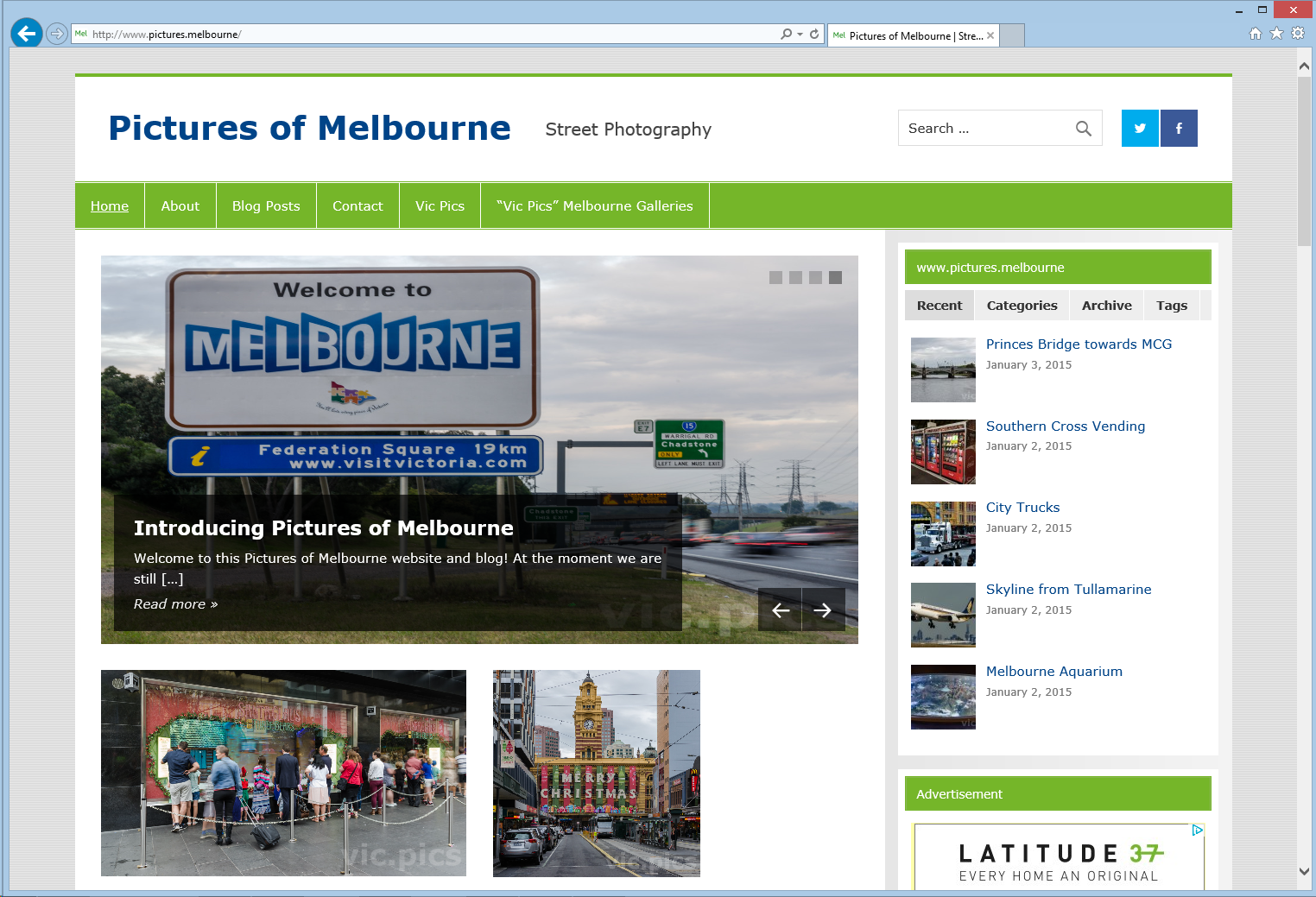 Pictures of Melbourne website screenshot