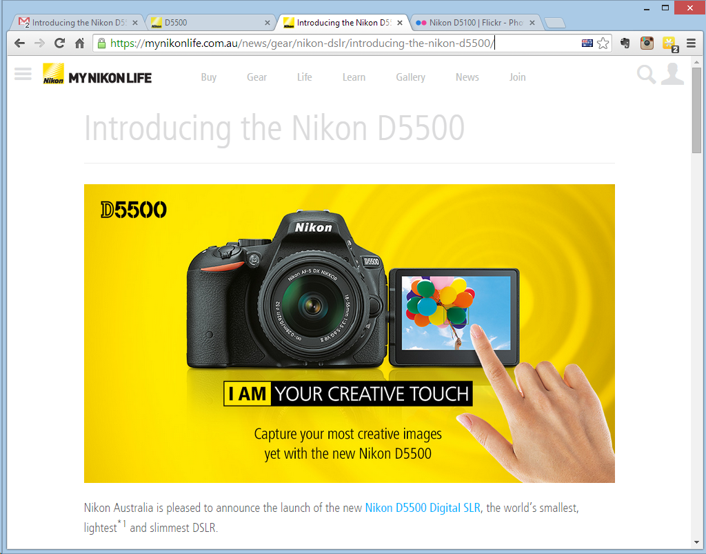 Nikon announce new D5500 DSLR camera