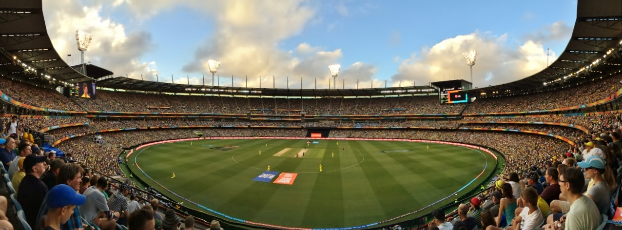 iPhone panoram of Melbourne Cricket Ground during the Cricket World Cup