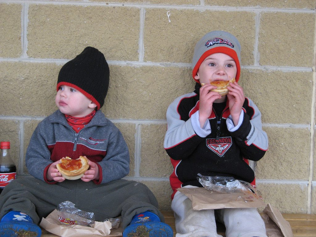 2006 - Brad and Josh Yeo eating pies