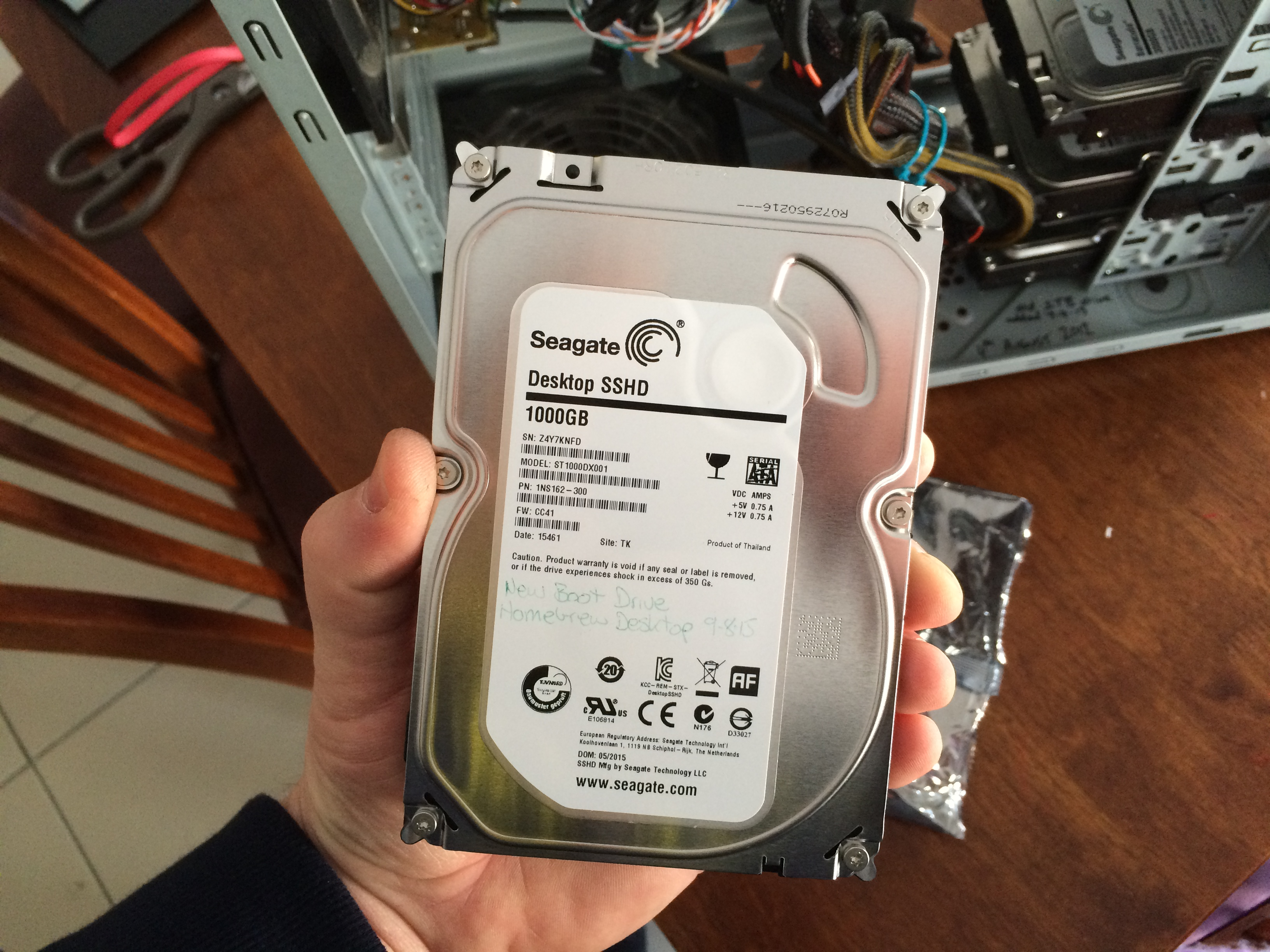 Brand new Solid State Hybrid Drive to install Windows 10 onto