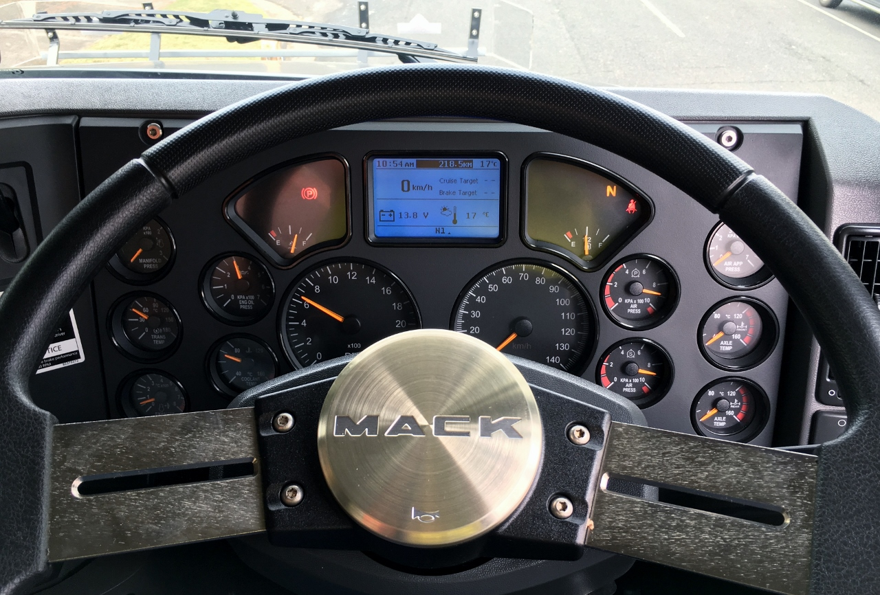 Traditional style dash board.