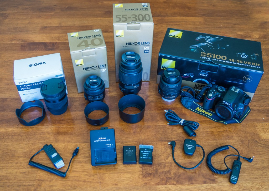 Nikon D5100 with lenses for sale