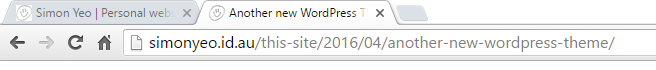 Traditional URL permalink slug showing blog category and date elements