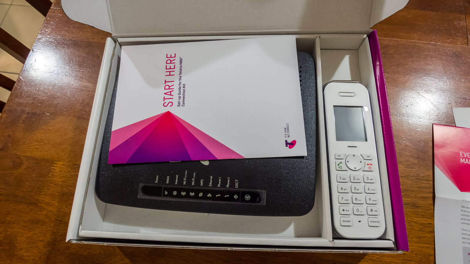 Telstra NBN Connection Kit, new modem and phone