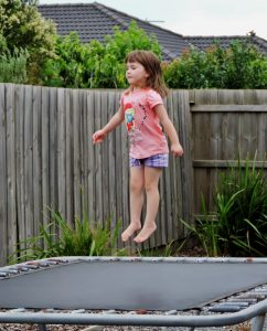 Karla on the trampoline
