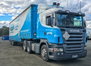 Morrows Scania semi trailer