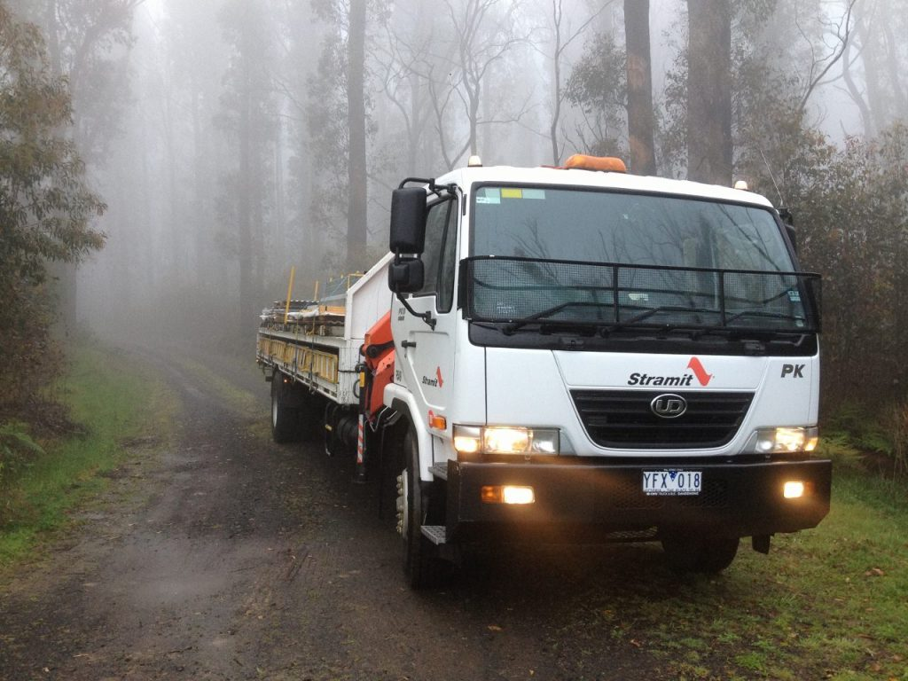 Delivering through the fog to Kinglake