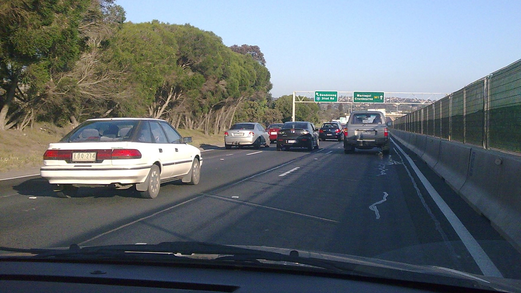 Monash Freeway roadworks 2008 approaching Stud Road, Melbourne.