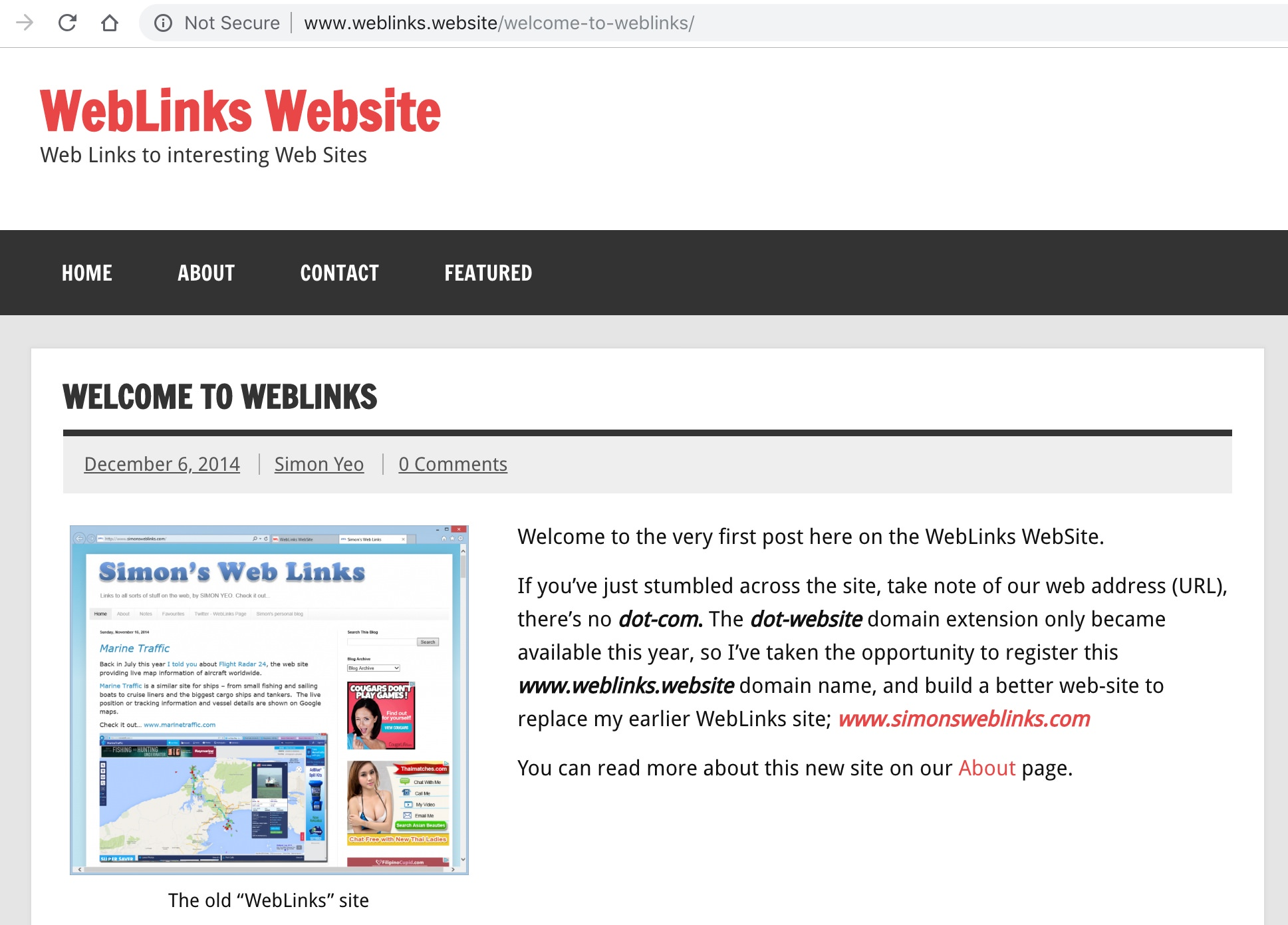 WebLinks Website