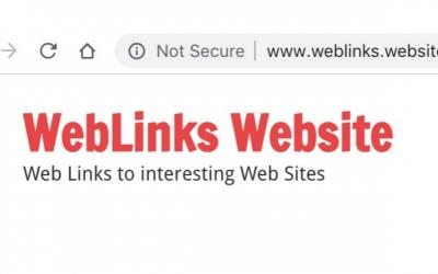 I've shut down my Weblinks Website